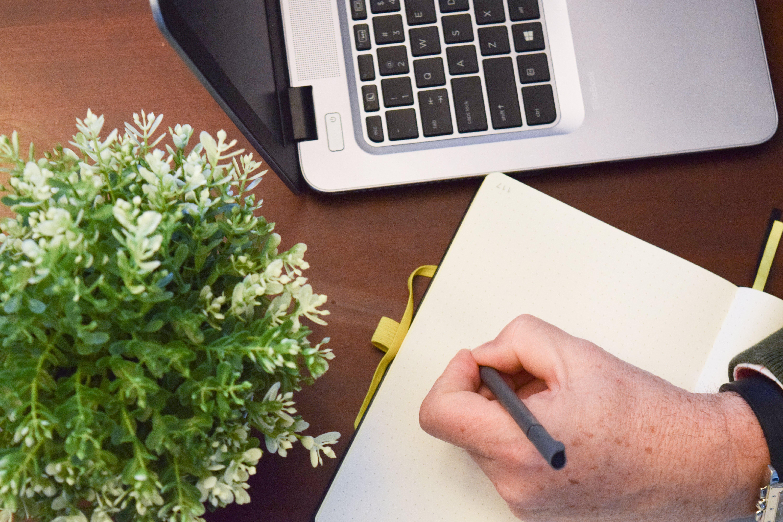 Free stock photo of bullet journal, computer, handwriting, journal