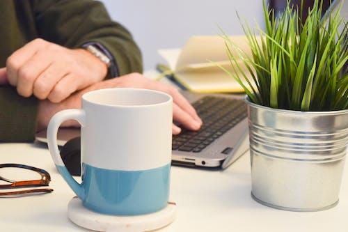 Fotos de stock gratuitas de café, copa, escritorio, gafas