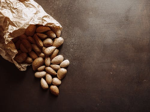 Close-Up Shot of Almond Nuts