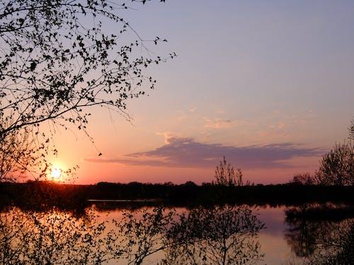 Бесплатное стоковое фото с закат, закатное небо, красивый закат