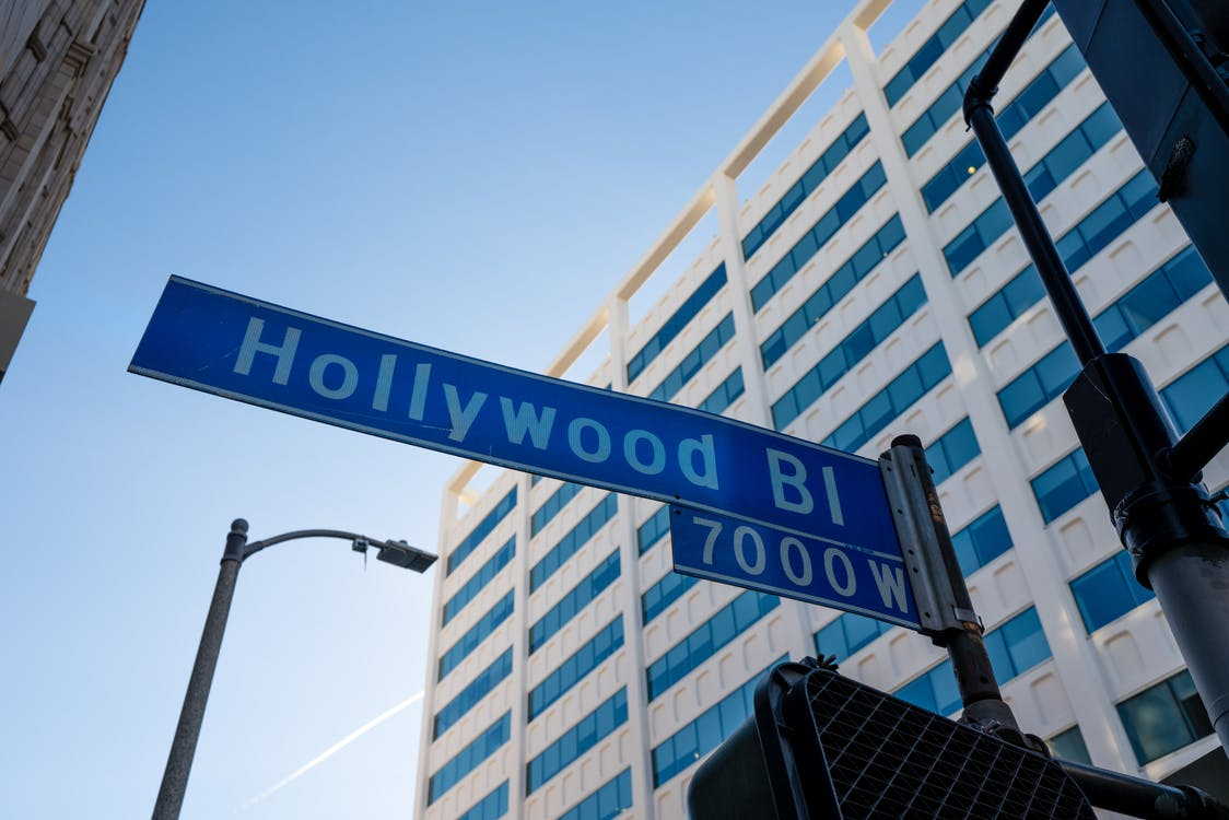 building background, depth of field, hollywood