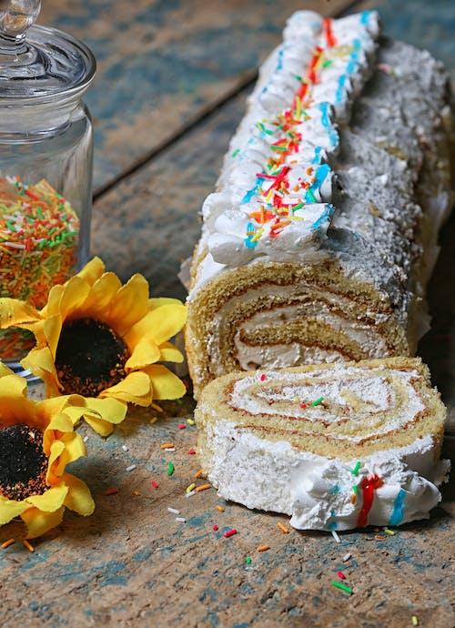 Gratis lagerfoto af fødselsdagskage, kage, mad