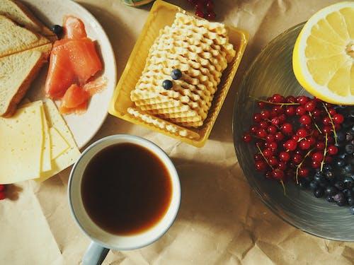 Fotos de stock gratuitas de arándanos azules, brindis, café, comida
