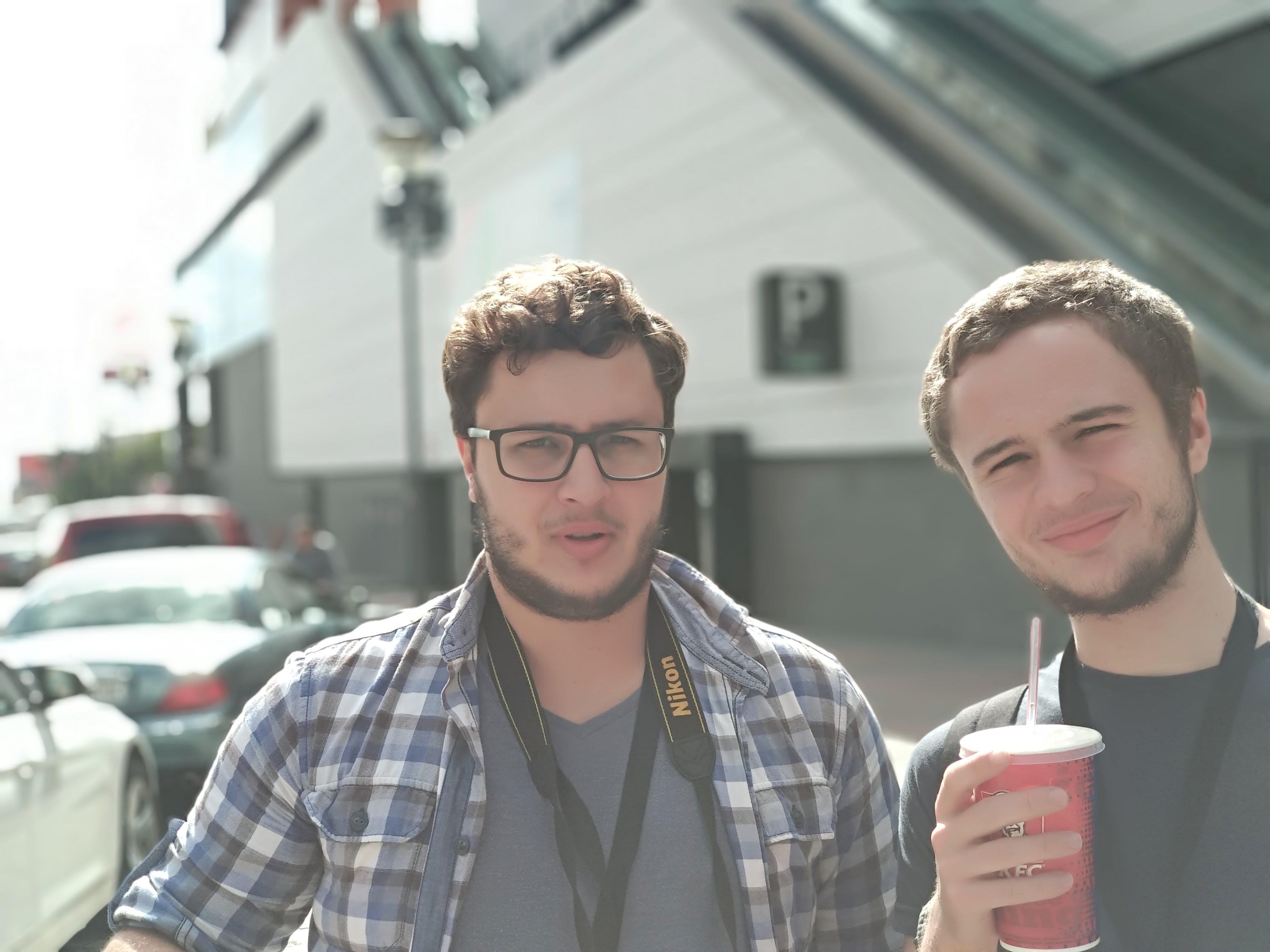 Free stock photo of brothers, camera, drinking, guy