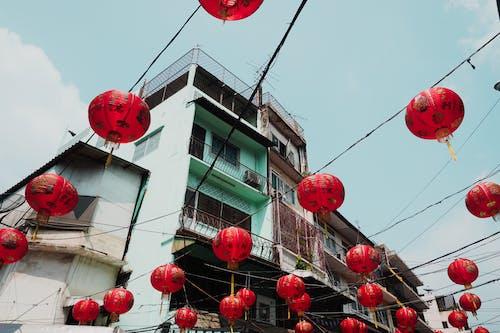คลังภาพถ่ายฟรี ของ ชาวจีน, สถาปัตยกรรม, สถาปัตยกรรมจีน, สีแดง