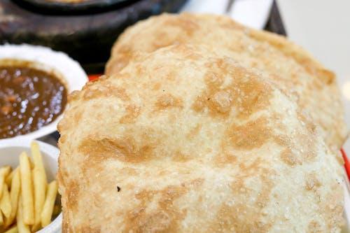Kostnadsfri bild av bathura, bröd, chhole bhature, chole