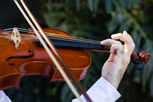 A Person Playing Violin