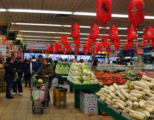 Free stock photo of chinese lanterns, iphone 5s, new york city, supermarket
