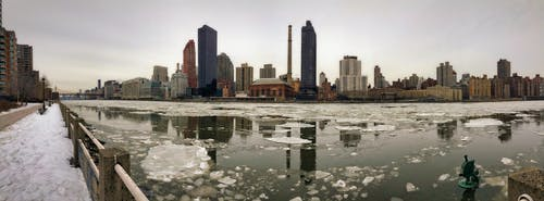 Free stock photo of east river, frozen river, iphone 5s, new york city