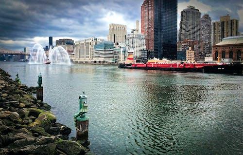 คลังภาพถ่ายฟรี ของ ภูมิทัศน์ฤดูหนาว, วอลล์เปเปอร์เมืองนิวยอร์ก, เรือ, แม่น้ำตะวันออก
