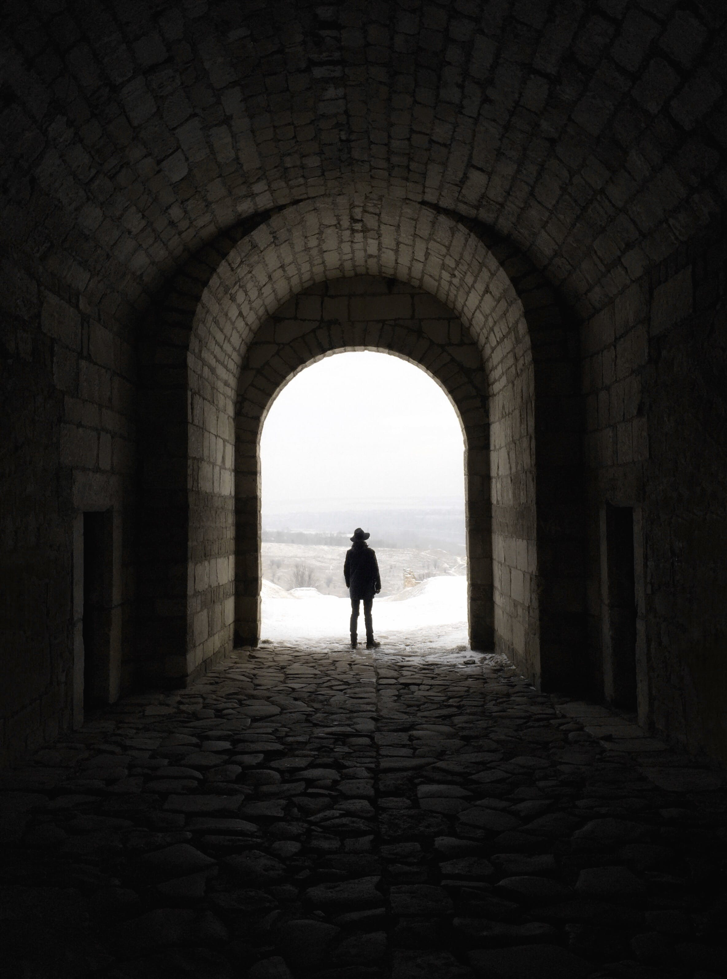 Free stock photo of person, silhouette, tunnel, arch