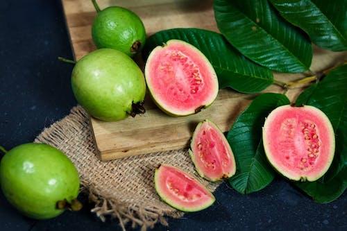 Close-Up Shot of Sliced Guavas