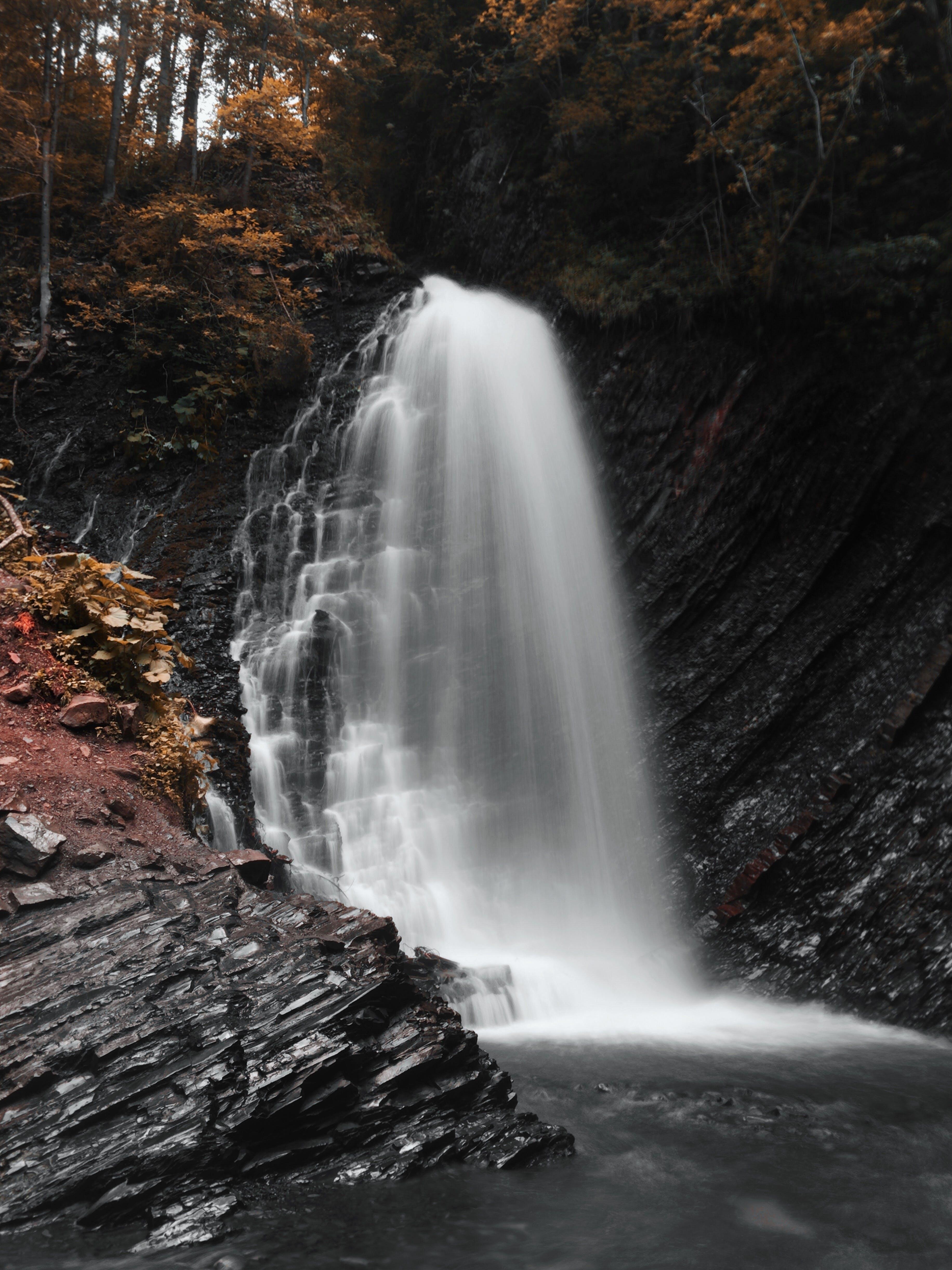 cascade, flow, long-exposure