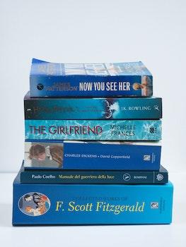 Free stock photo of italian, blue, books, writing
