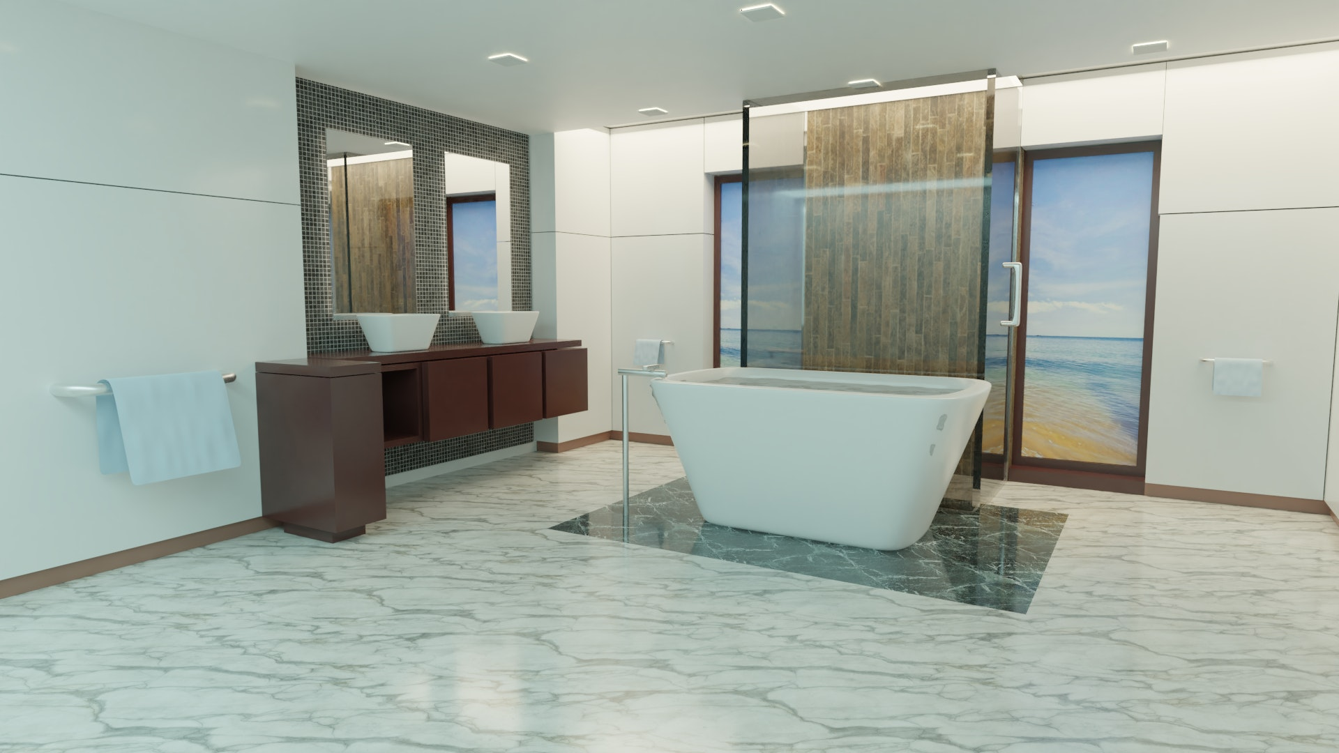 Free stock photo of 3d, bathroom, bathtub