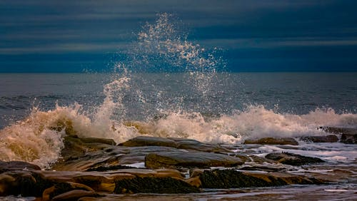Ilmainen kuvapankkikuva tunnisteilla aalto, aamu, aamunkoitto