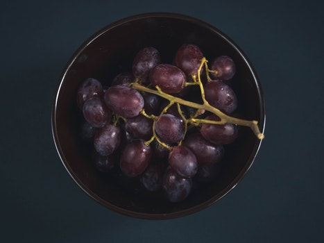 Free stock photo of food, plate, dark, fruits