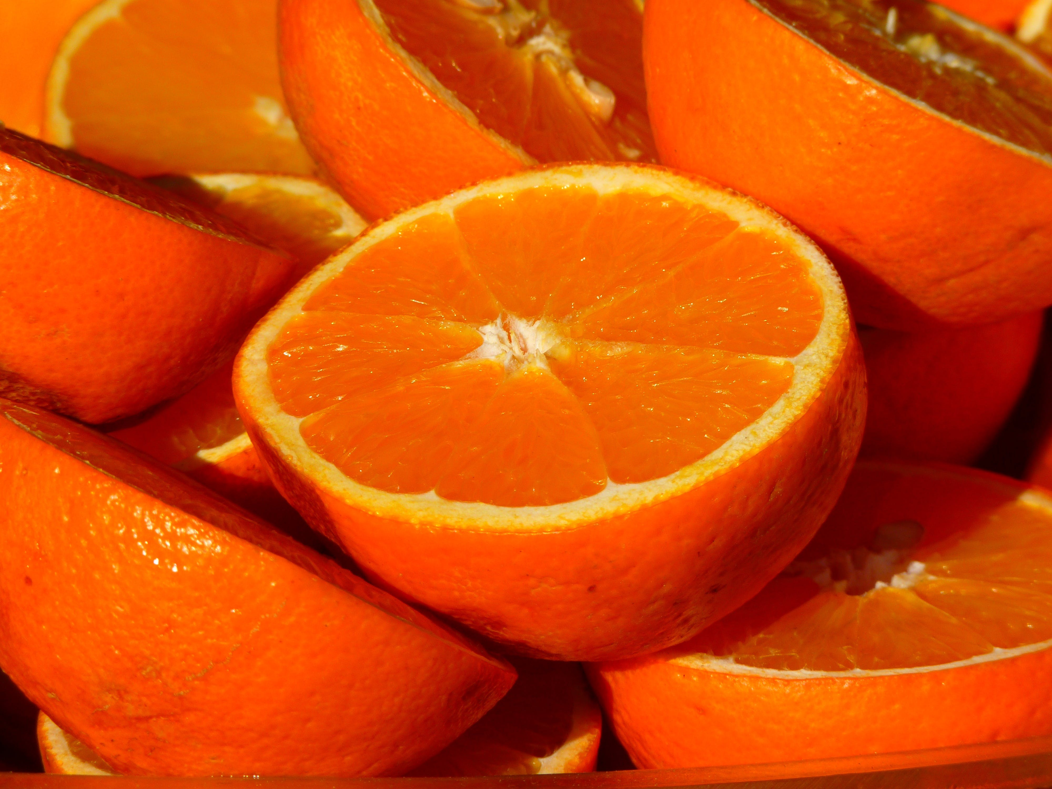 Sliced Orange Fruits