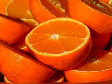 Sliced Orange Fruits