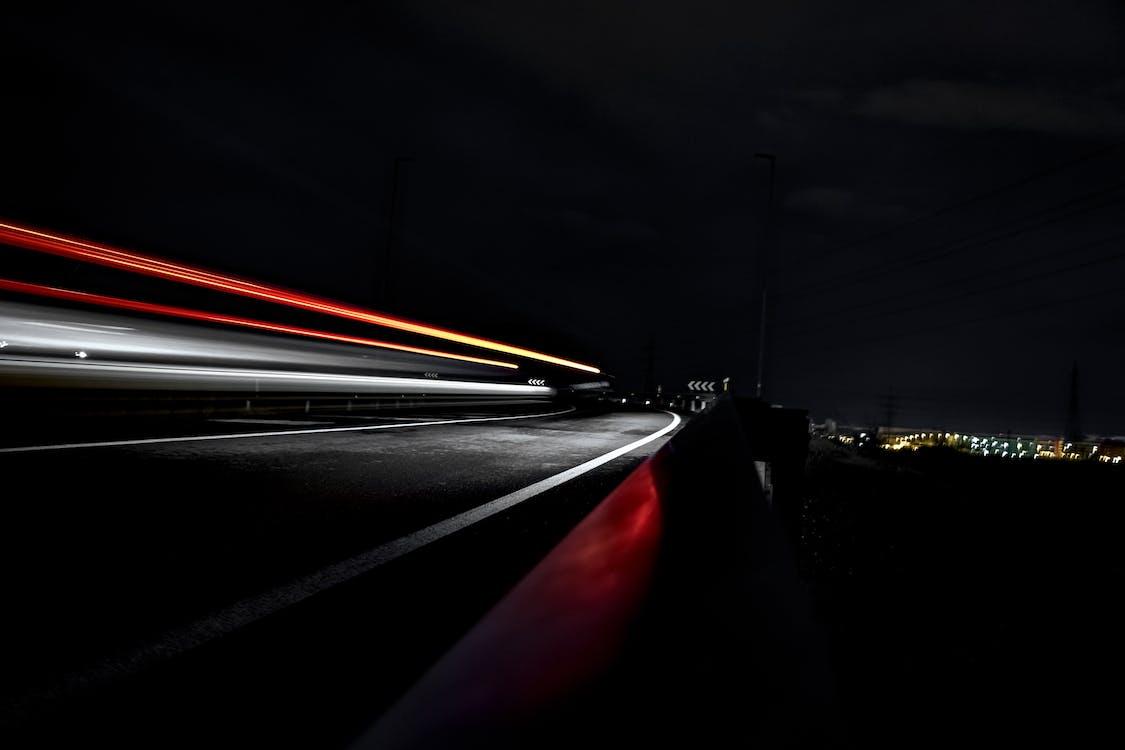 accéléré, autoroute, intervalle régulier