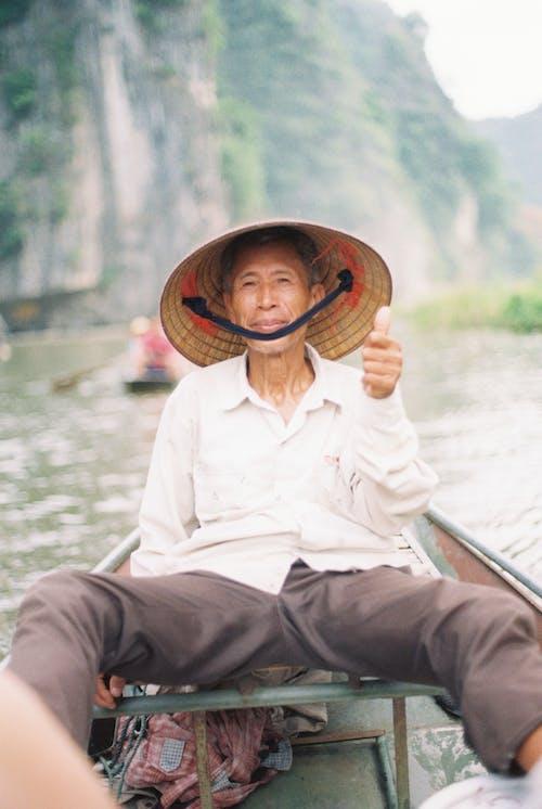 Free stock photo of adult, boatman, elderly