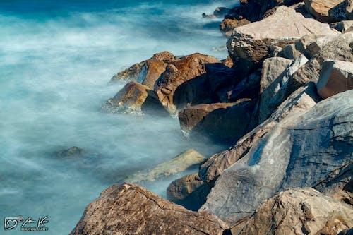 Gratis arkivbilde med lang eksponering, ved sjøen