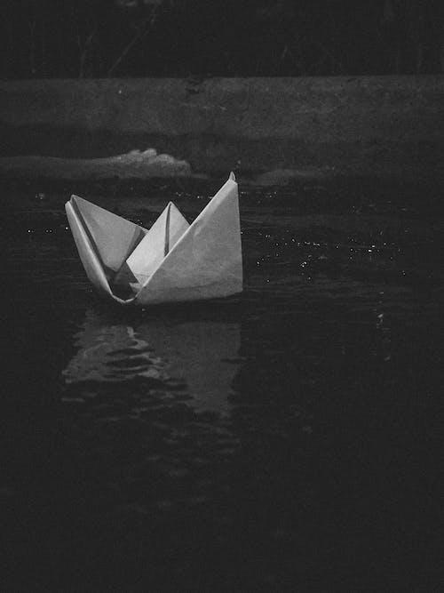 グレースケール, ボート, モノクロームの無料の写真素材