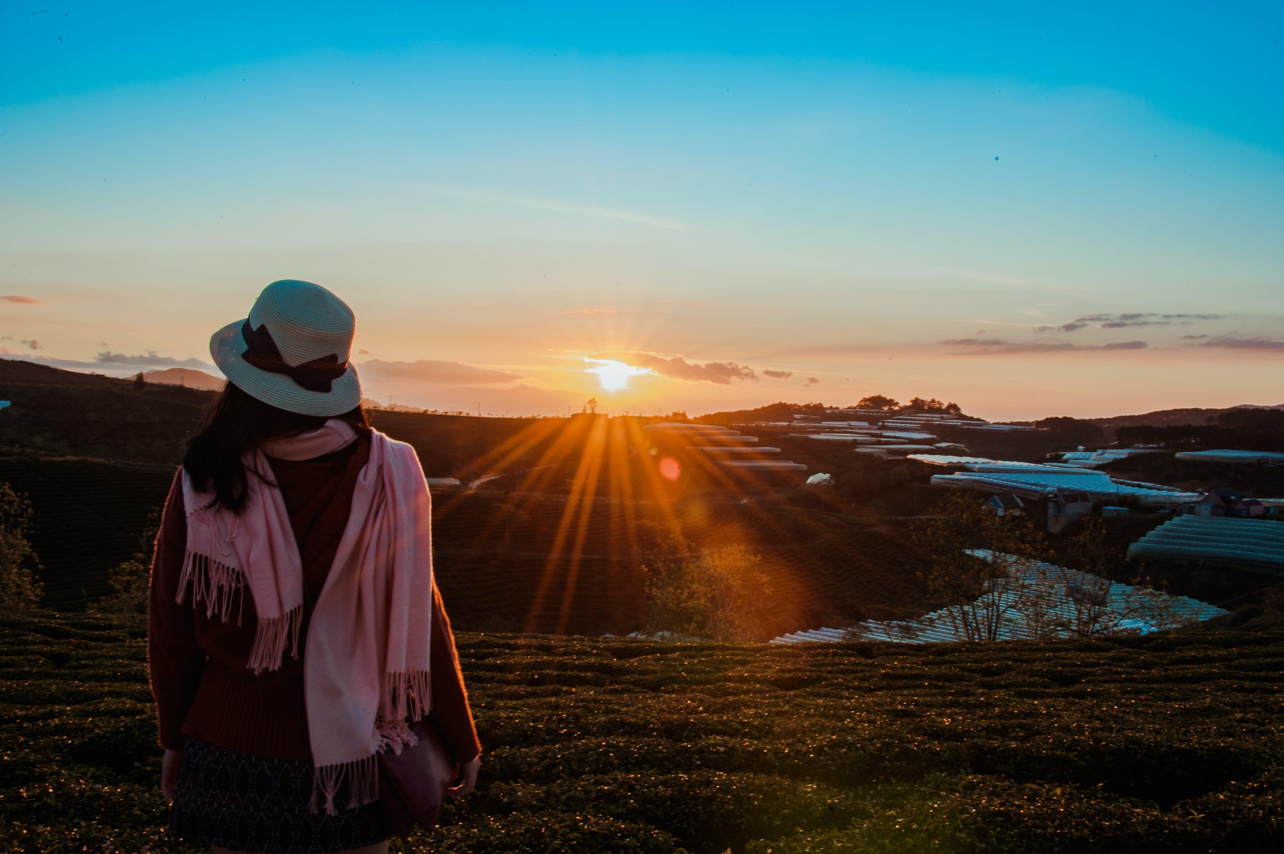 คลังภาพถ่ายฟรี ของ คน, ชั่วโมงทอง, ดวงอาทิตย์, ตะวันลับฟ้า