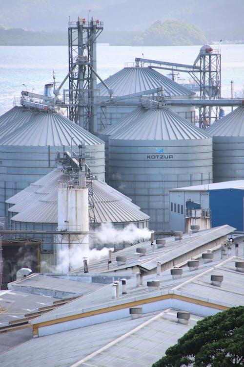 垂直ショット, 工場, 工業ビルの無料の写真素材