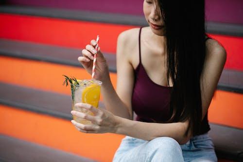 亞洲女人, 亞洲女性, 冷飲 的 免費圖庫相片