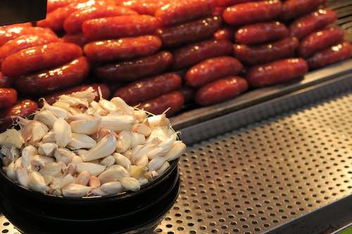 Free stock photo of garlic, sausage