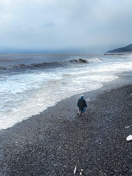 açık hava, ada, dalga içeren Ücretsiz stok fotoğraf