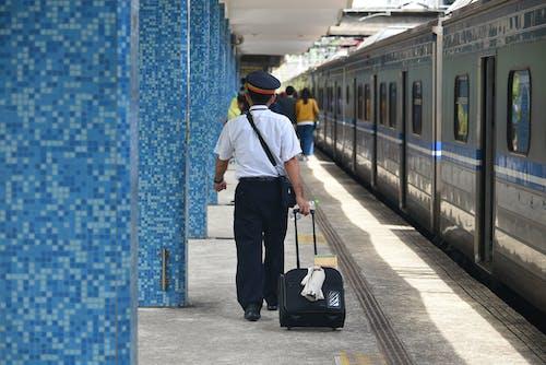 Free stock photo of train, train conductor