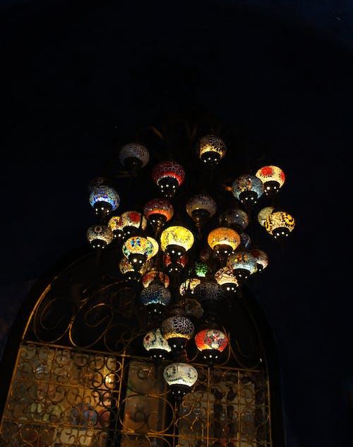 Free stock photo of beautiful lamp, blinking lights, ceiling lamp