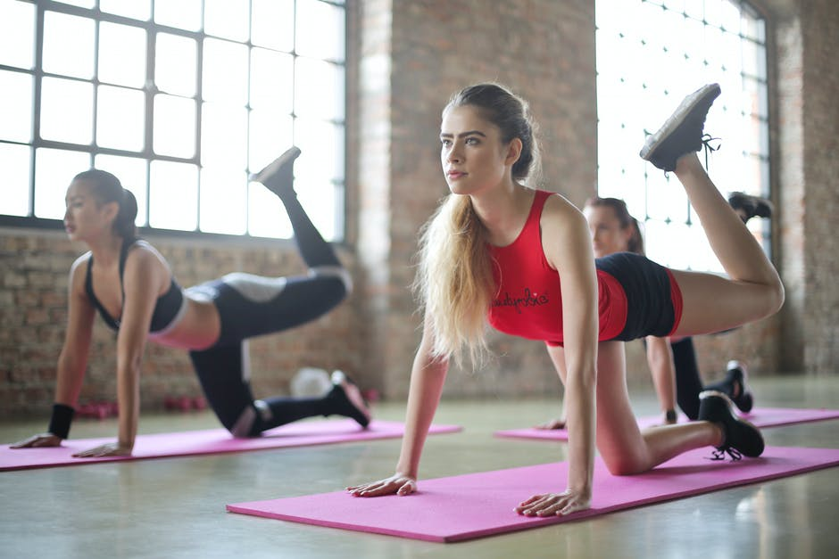 Group of Woman Doing Yoga