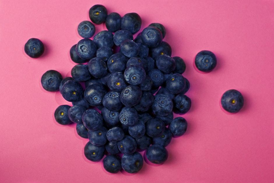 berries, blueberries, food