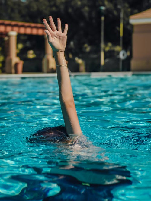 Person in Swimming Pool