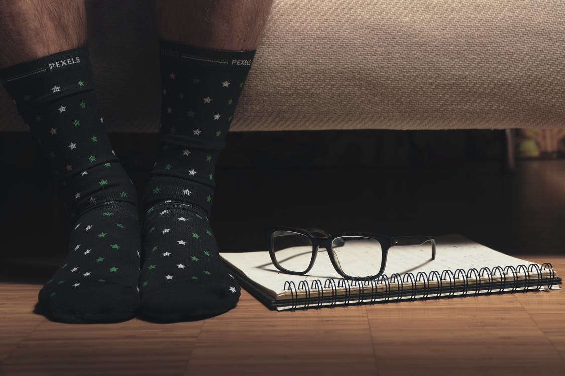 Pair of Black High Socks