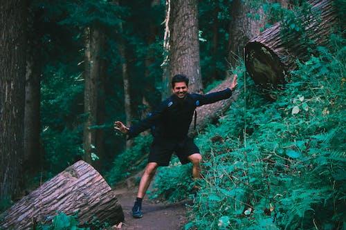 Foto d'estoc gratuïta de adult, arbres, bosc, color