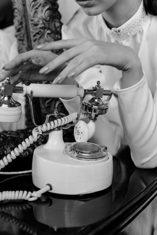 White Rotary Dial Telephone