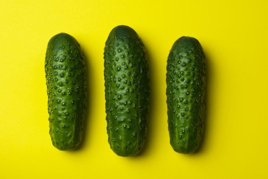 cucumbers, food, gherkins