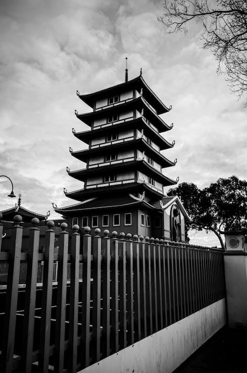 Základová fotografie zdarma na téma architektura, černý a bílý, chrám