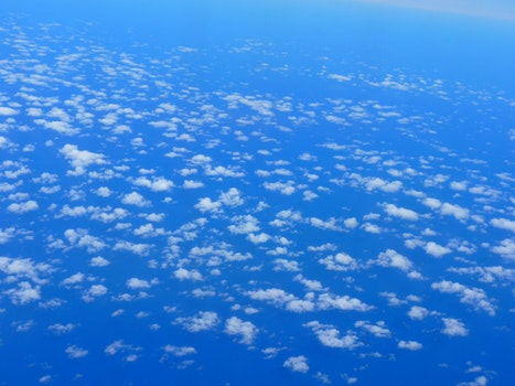 Free stock photo of flight, sky, clouds, space