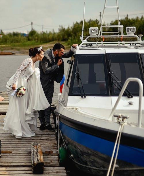Imagine de stoc gratuită din adult, apă, barcă