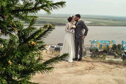 Imagine de stoc gratuită din fată drăguță, natură, nuntă