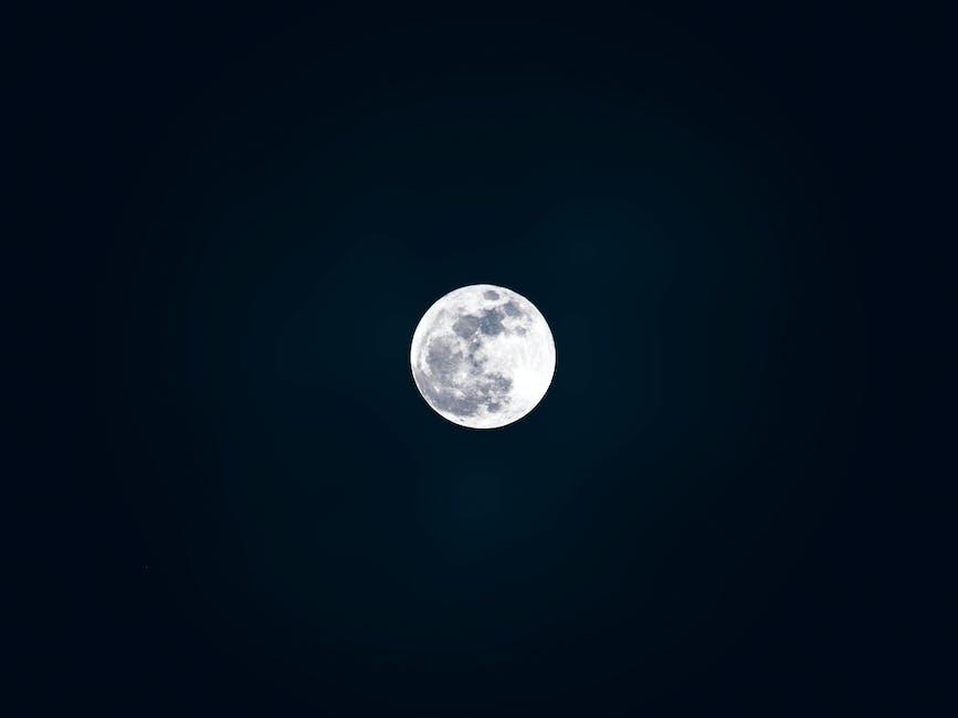 black wallpaper, cosmos, full moon