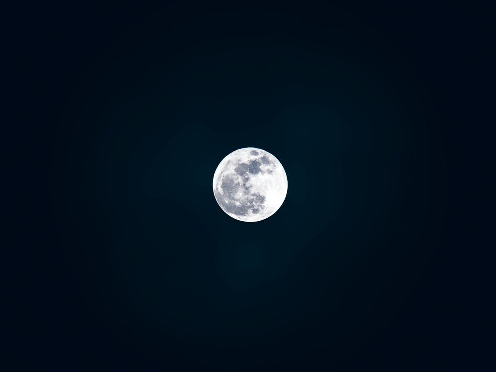 White and Gray Moon