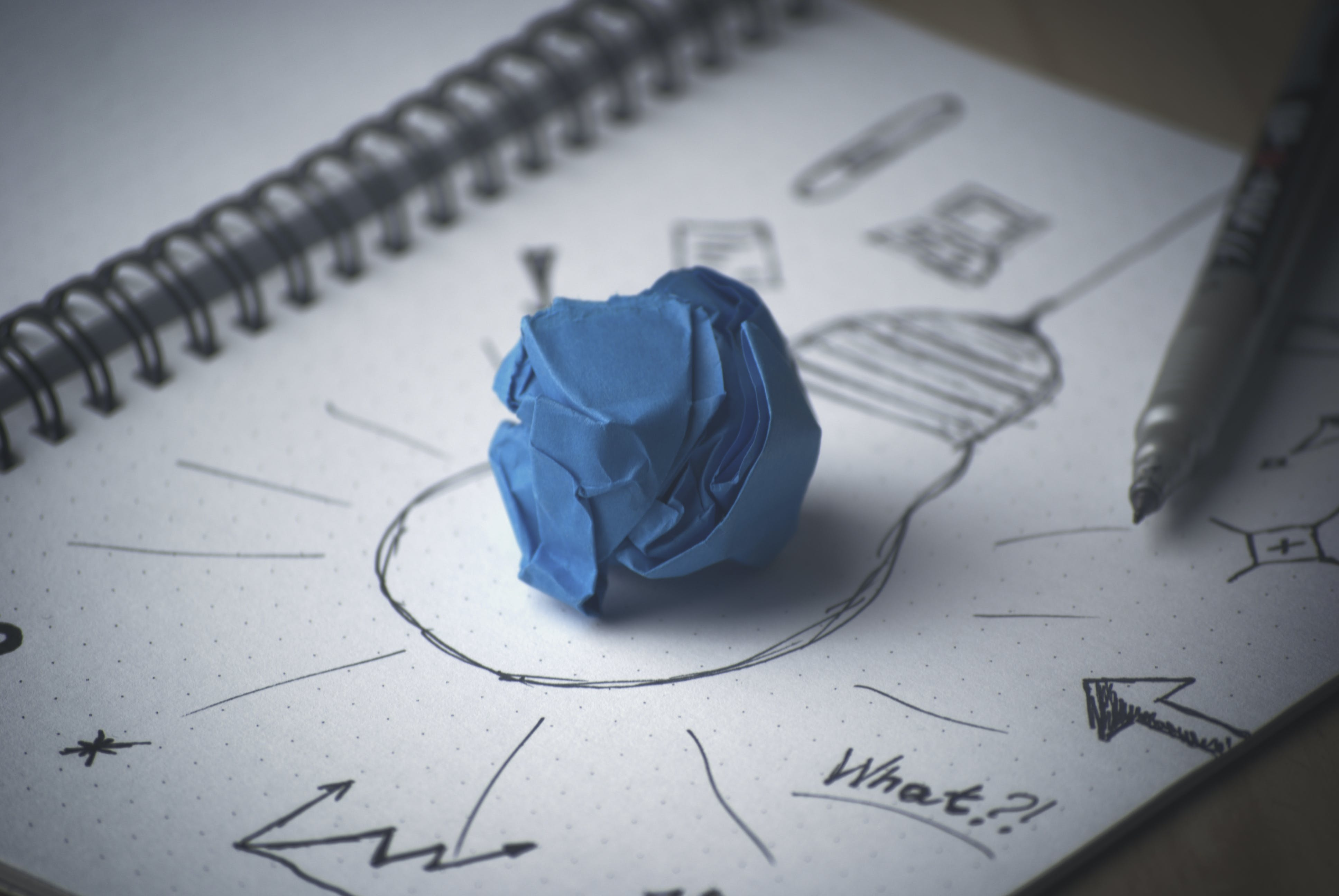 Blue Paper on Bulb Sketch