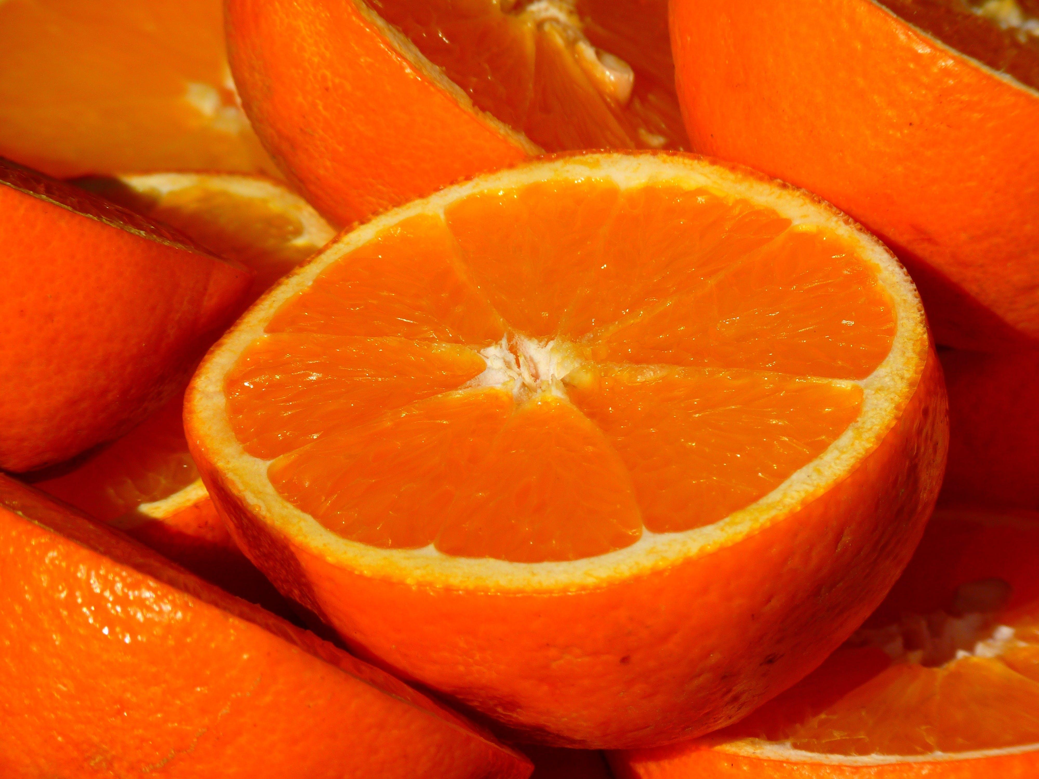 Half Cut Orange Fruit