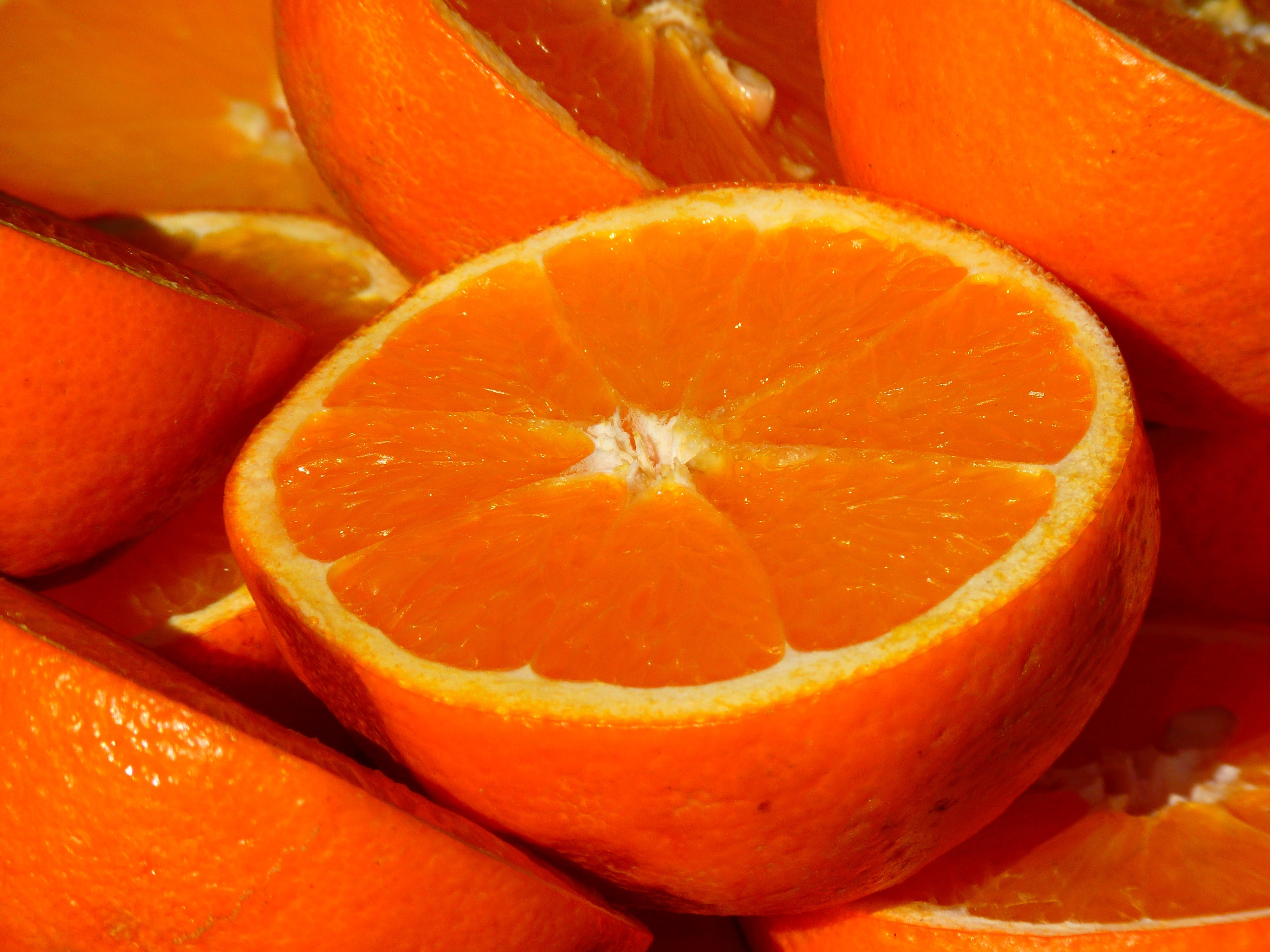 Half Cut Orange Fruit